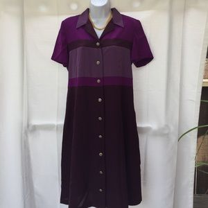 Leslie Faye purple dress 10P women's Ladie…
